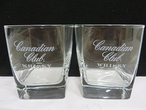 Canadian Club Whisky Square Lowball Glass ()