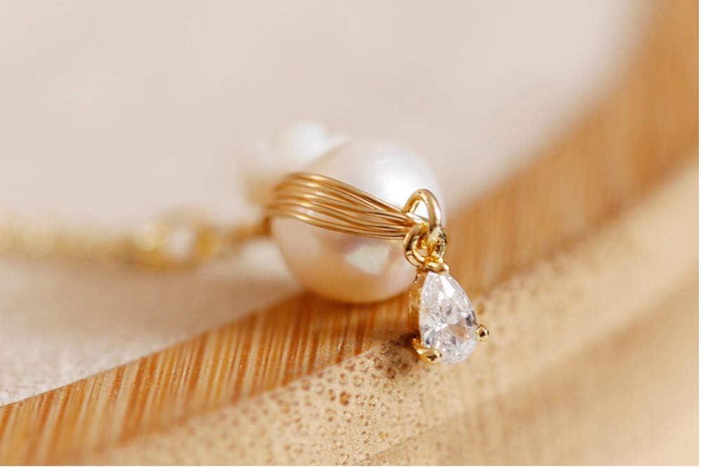BAIMM Wild S925 Plata de Ley Joyas Cortas Collar de Oro Ligero 14K Collar de Mujer Collar de Perlas barrocas Joyas Colgantes