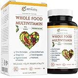 Whole Food Multivitamin for Women and Men - Natural Wholefood Blend of Vitamins, Minerals, Digestive Enzymes, Probiotics, Omega 3 & 6, Vegetables, Fruit, Mushrooms, Boost Immune System & Antioxidant