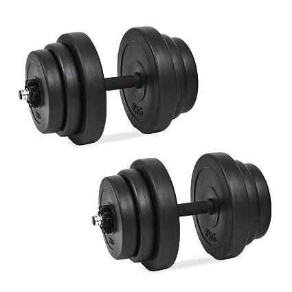 vidaXL 2 Mancuernas Juego de Pesas 30kg Entrenamiento Fuerza Fitness Musculación