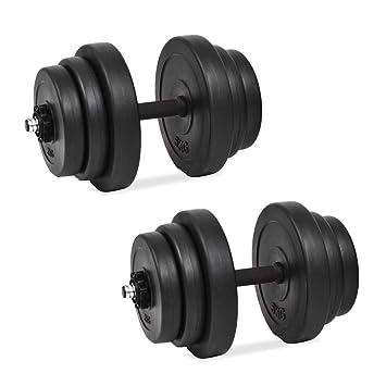 Festnight Set de Mancuerna 18 Piezas 40 kg Entrenar Pecho,Bíceps,Brazos, Tríceps