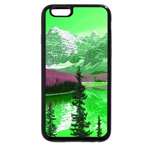 iPhone 6S / iPhone 6 Case (Black) green icy mountain