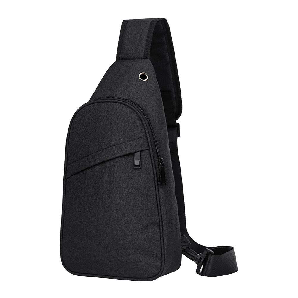 VORCOOL Mä nner Casual Brusttasche groß e Kapazitä t Umhä ngetasche Sling-Paket Oxford Tuch sicher Multifunktionale Tasche (schwarz)