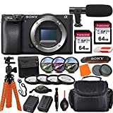 Sony Alpha a6400 Mirrorless Digital Camera (Body Only) & Pro Accessory Bundle incl. 2X 64GB Transcend Memory Card, Gadget Bag, UV-CPL-FLD Filters and Macro Kits and More