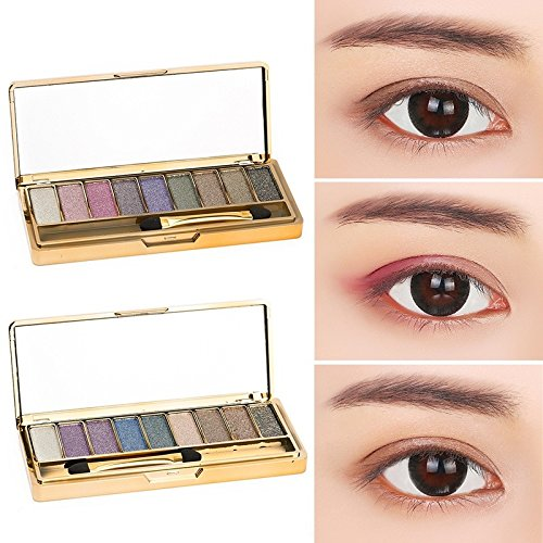 #No.3# 9 Colors Makeup Eyeshadow Naked Smoky Palette Make Up Set Eye Shadow Maquillage Professional Cosmetic With Brush EE5