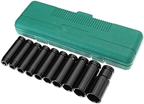 Queenwind 10pcs 1/2 インチドライブディープインパクトソケットセットクロームバナジウム鋼ガレージツールヘビーデューティツール