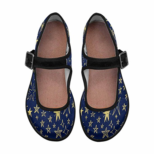 InterestPrint Casual Shoes 1 Walking Flats Mary Jane Comfort Womens Multi wqxwOvaHP