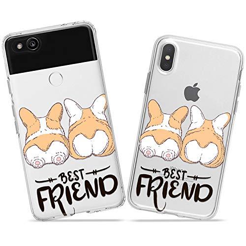 Wonder Wild Corgi Friends Couple Case iPhone Xs