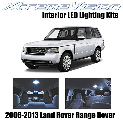 XtremeVision Land Rover Range Rover 2006-2013 (14 Pieces) Cool White Premium Interior LED Kit Package + Installation Tool