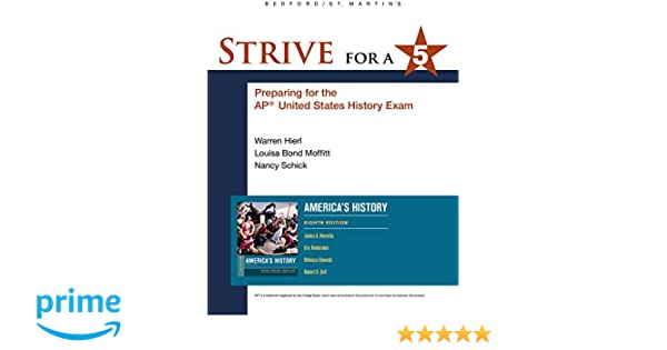 Amazon com: Strive for a 5 for America's History