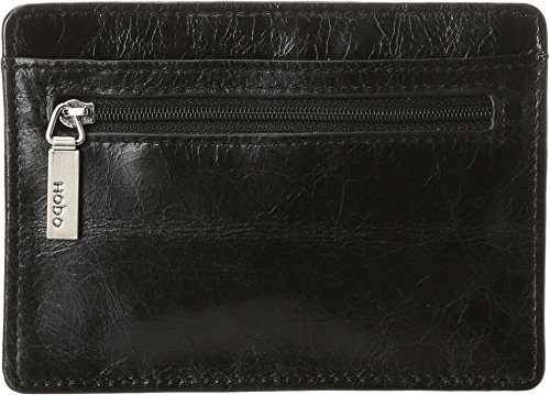 HOBO Vintage Euroslide Card Holder Wallet,Black,One Size