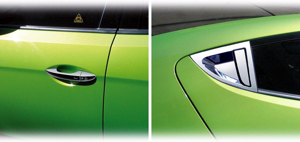 Box for Hyundai Veloster Door Handles Chrome Door Handle Cover Caps Tuning