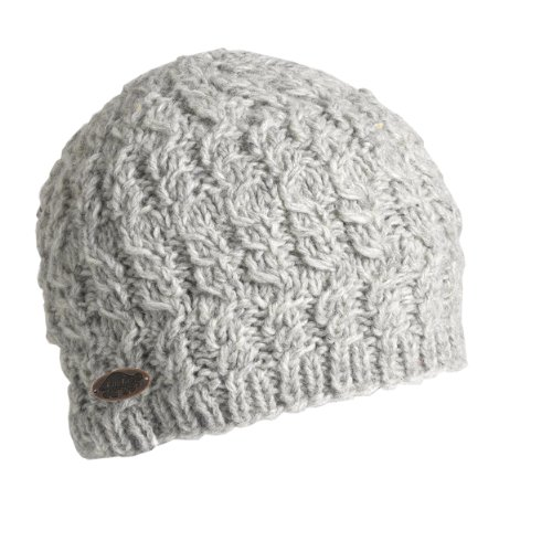 Turtle Fur Women's Nepal Mika, Artisan Hand Knit Wool Beanie, Smoke Heather
