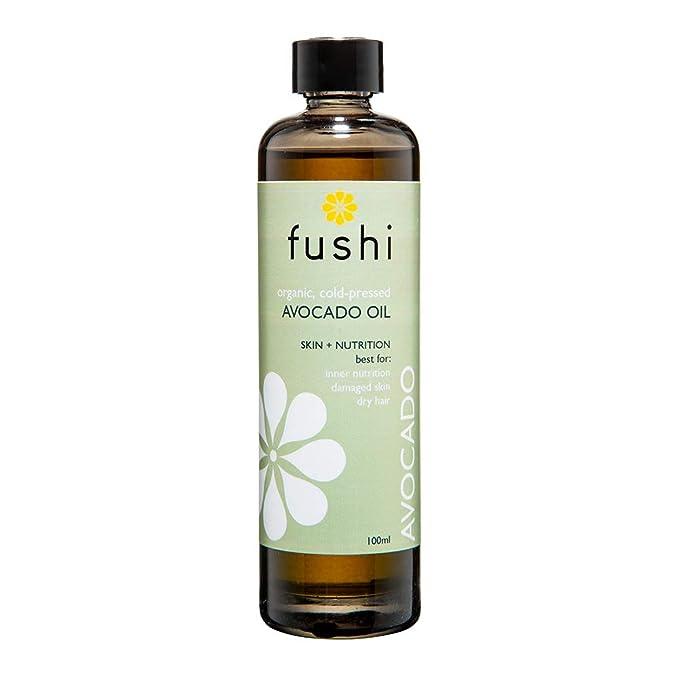 Aceite de aguacate orgánico Fushi, 100 ml | prensado fresco | rico en vitamina C, A, ...