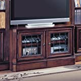 48-72 Inch Expandable TV Console w Glass Doors- Huntington