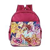Occation Winx Club School Bag Bag For Girls, Boys, Kids, Students-Pink