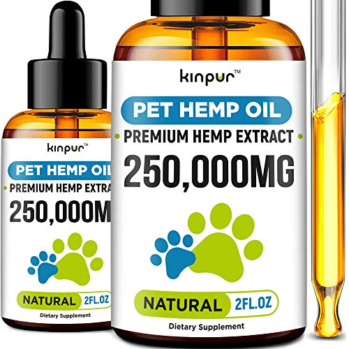 2-Pack-Hemp-Oil-Dogs-Cats-250-000mg-Made-in-USA-Stress-Relief-Separation-Anxiety-Joint-Pain-Seizures-Anti-Inflammatory-Omega-3-6-9-4OZ