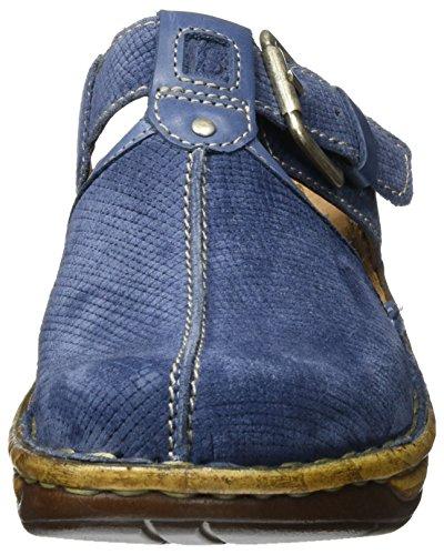 Josef Seibel Catalonia 17, Zuecos para Mujer Blau (jeans-kombi)