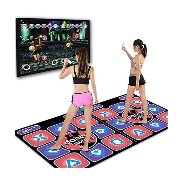 2 Remote Controller,Multi-Function Games /& Levels,Sense Game for PC TV,Best Gift for Adults Kids Double Dancing Mat,Non-Slip Dancer Step Pads Double User Wireless Dance Mat Game TV Non-Slip