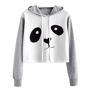 MEIbax 2018 Caricatura Lindo Panda Moda promocionales Blusa Tops Mujeres gráfico de impresión Sudadera con Capucha Blusa de Jersey Tops: Amazon.es: Ropa y ...