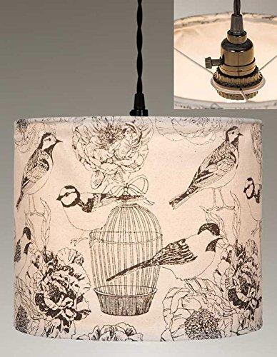 Birdcage Canvas - Vintage Birdcages Canvas Pendant Lamp