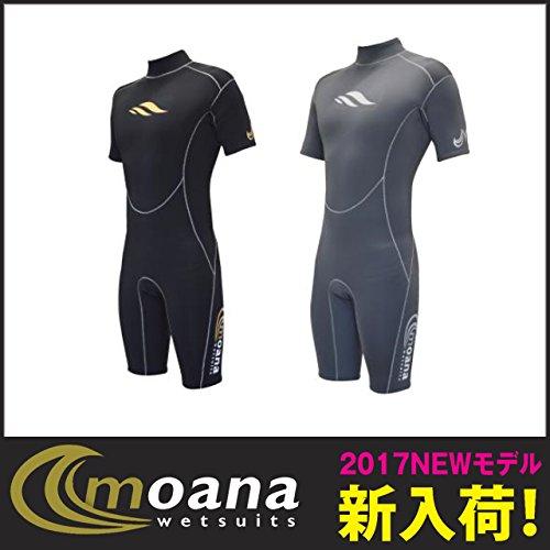 moana(モアナ) ウェットスーツ ウェットスーツ Adult S/S Spring (アダルト ショートスリーブ スプリング) チャコール M   B01MSBGGYA