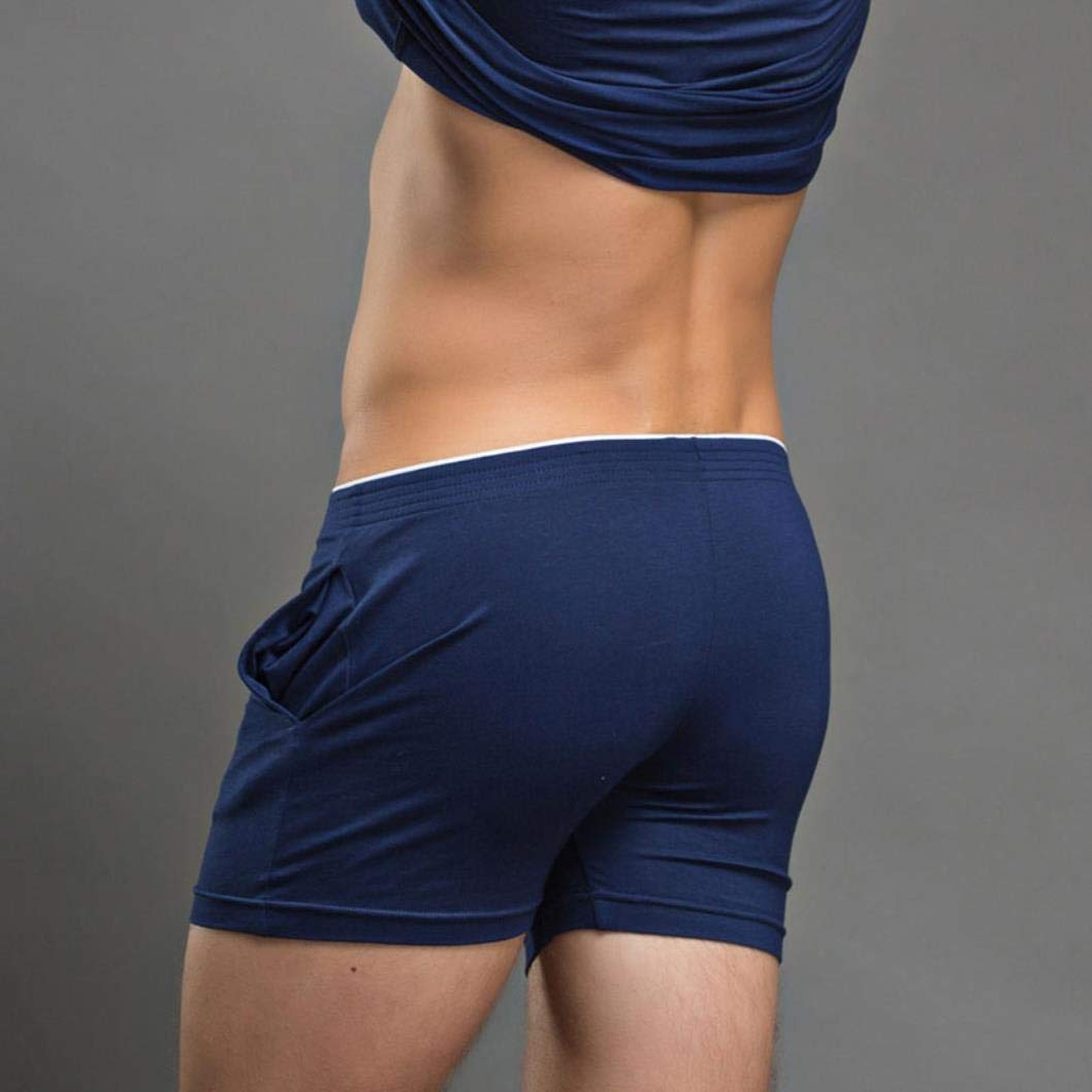 Men Boxers Casual Home-Wear Shorts Slip Homme Trunks Loose Breathable Pants