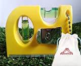 Homesure Mini Level Portable Increased Flexibility Narrow Magnetic Two Way Easy Grabbing Keychain