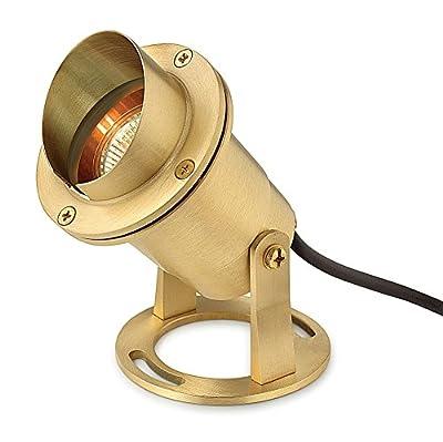 Hinkley Lighting 1539BS Solid Brass Submersible MR16 50 Watt Maximum Pond Light, Bronze