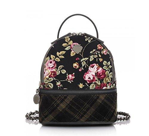 LE PANDORINE - Bolso mochila  de cuero sintético para mujer negro negro