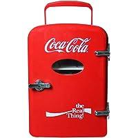 DACE Mini Refrigerador Termoelectrico Coca Cola 6 Latas, Rojo