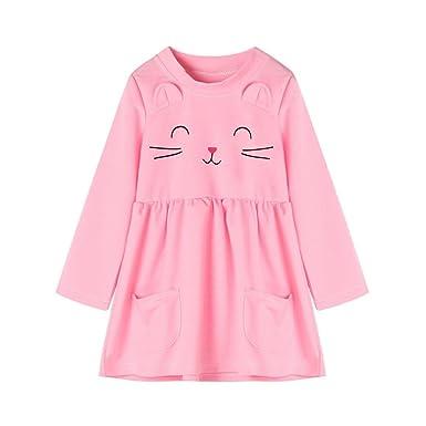 7ec1be1fe K-youth® Dibujos animados de gato Vestidos Niña Wedding Party Birthday  Dress Princesa Vestido de Fiesta Ropa Bebe Niña Recién Nacido Ropa De Manga  Larga ...