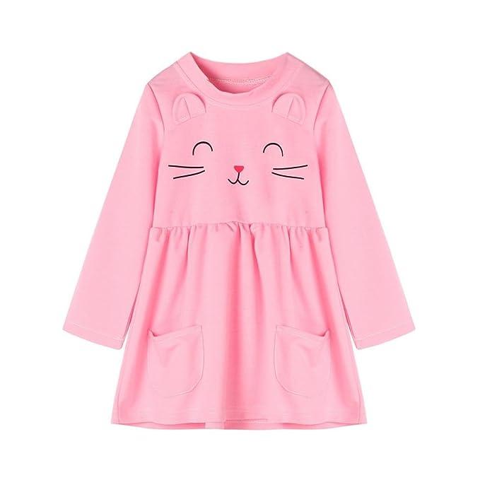 K-youth® Dibujos animados de gato Vestidos Niña Wedding Party Birthday Dress Princesa Vestido