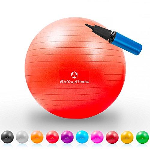 Gymnastik-Ball »Pluto« / Robuster Sitzball und Fitnessball / 75 cm / rot