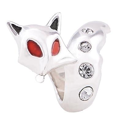 cf4bf81a9 925 Sterling Silver Fox Charm Bead - fits Pandora, Biagi & Troll etc:  Amazon.co.uk: Jewellery
