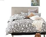 Swanson Beddings Leafy Vines 3-Piece 100% Cotton Bedding Set: Duvet Cover Two Pillow Shams (Full)