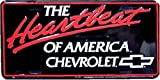 The Heartbeat of America embossed metal auto tag 6 x 12