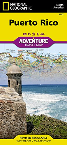 Puerto Rico (Adventure Travel Map) (National Geographic Adventure Map)