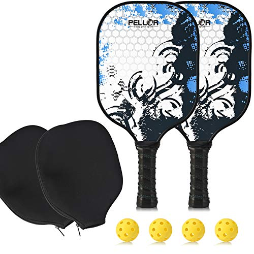 Pickleball Paddle Set of 2 Graphite Pickleball ...