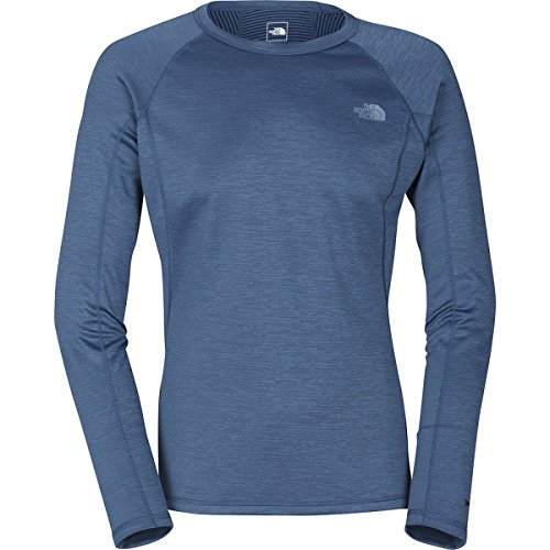 North Face M Warm Crew Neck Long Sleeve Tee Montery Blue ...