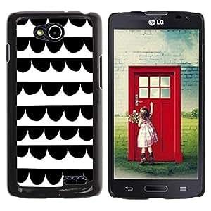 Be Good Phone Accessory // Dura Cáscara cubierta Protectora Caso Carcasa Funda de Protección para LG OPTIMUS L90 / D415 // Lines White Kids Draw Hand