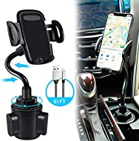 bokilino Car Cup Holder Phone Mount, Universal Adjustable Gooseneck Cup Holder Cradle Car Mount for Cell Phone iPhone 11...