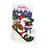 Janlynn 090-0051 Felt Appliqué Kit, 16-1/2-Inch by 10-1/4-Inch, Christmas Fun, White
