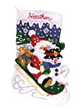 Janlynn Felt Appliqué Kit, 16-1/2-Inch by 10-1/4-Inch, Christmas Fun