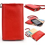 lg c299 - Universal All in One Wallet:: Card slots:: Wristlet Case Fits LG C299, Fireweb, Marquee, Optimus 3D Max|Red