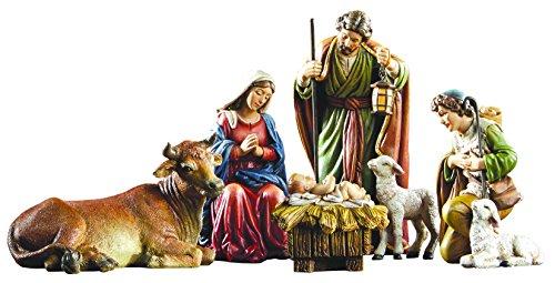 Avalon Gallery Michael Adams Christmas Holy Family 5 Inch 6-Piece Nativity Scene Set
