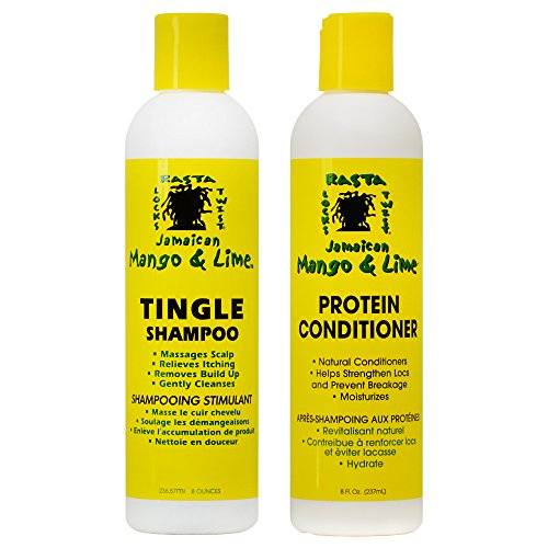 Jamaican Mango & Lime Tingle Shampoo & Protein Conditioner, 8 oz Duo (Best Conditioner For Dreadlocks)