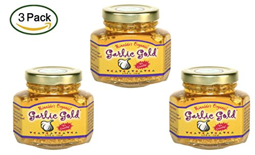 Toasted Organic Garlic Gold Nuggets In Extra Virgin Olive Oil 3.75-Ounce Jars (Pack of 3)