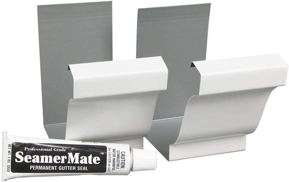 AMERIMAX HOME PRODUCTS 27008 Aluminum Seamer, White, 2-Pack