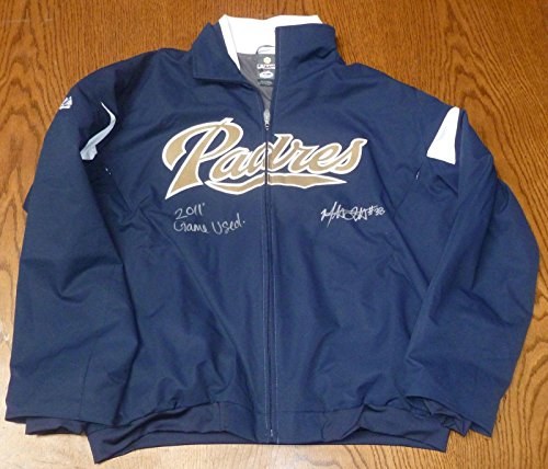Mat Latos Signed 2011 Game Used San Diego Padres Jacket COA Auto Reds XL - PSA/DNA Certified - Other Game Used MLB Autographed Items